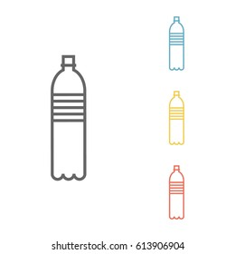 Bottle. Line icon. Vector sign.