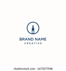 Bottle logo template design in Vector illustration