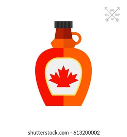 Bottle with maple syrup icon