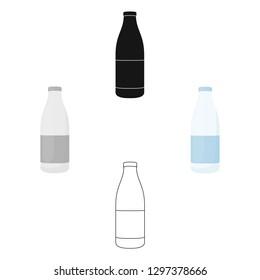 Bottle milk icon cartoon. Single bio, eco, organic product icon from the big milk cartoon.