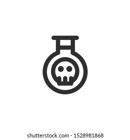 Bottle Poison Icon , Skull Logo , Terrorism Symbol