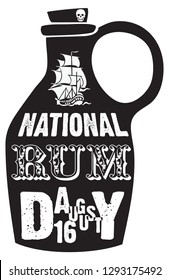 A bottle of rum for the National Day of Roma in August