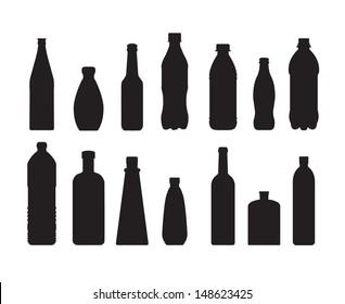 bottle set vector on white background