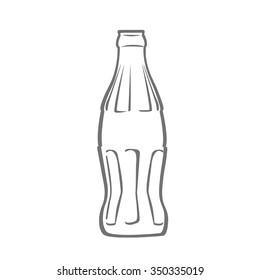Bottle of soda.  Flat Vector.