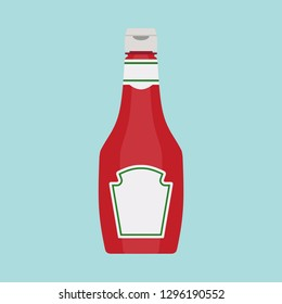Bottle tomato red sauce healthy organic vegetarian natural vegetable symbol vector icon. Kitchen ketchup food