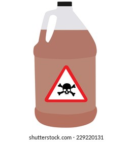 Bottle vector, bio-hazard symbol, toxic symbol, biochemical