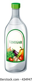 Bottle of vegetable vinegar illustration
