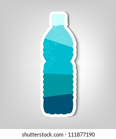 bottle of water. Clipart image