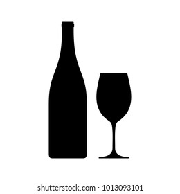 Bottle and wineglass icon