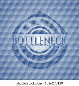 Bottleneck blue badge with geometric background. Vector Illustration. Detailed.