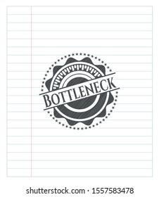 Bottleneck penciled. Vector Illustration. Detailed.