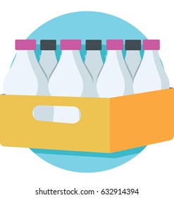 Bottles Crate Vector Icon