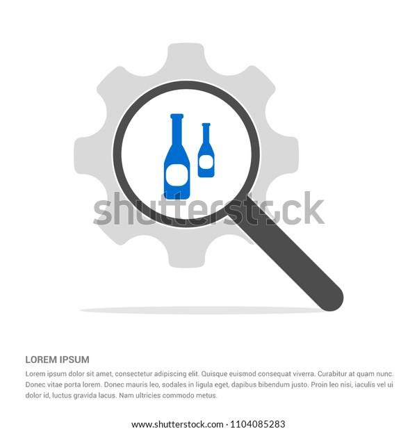 bottles icon - free vector icon