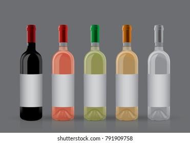bottles of wine on a dark background
