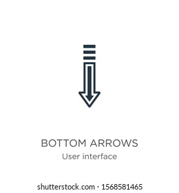 Bottom arrows icon vector. Trendy flat bottom arrows icon from user interface collection isolated on white background. Vector illustration can be used for web and mobile graphic design, logo, eps10