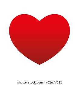 Bottom Gradient Big Red Heart Round Valenentine's day Vector