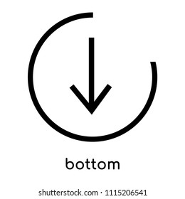 bottom icon vector isolated on white background for your web and mobile app design, bottom logo concept, outline symbol, linear sign