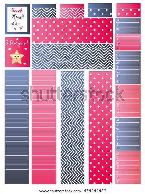 photo regarding Printable Washi Tape identified as Backside Significant Washi Tapeprintable Washi Planneragendabullet