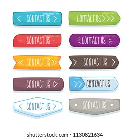 Botton design with different words illustration