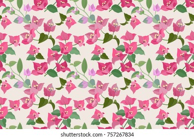 bougainvillea flowers seamless pattern for wallpaper,textile
