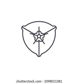Bougainvillea line icon concept. Bougainvillea flat vector sign, symbol, illustration.