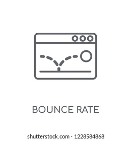 Bounce rate linear icon. Modern outline Bounce rate logo concept on white background from Technology collection. Suitable for use on web apps, mobile apps and print media.