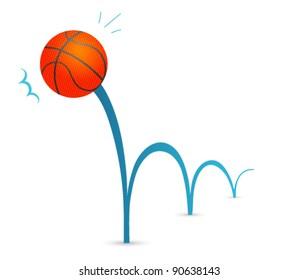 Bouncing basketball cartoon
