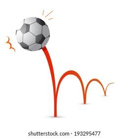 Bouncing soccer ball cartoon