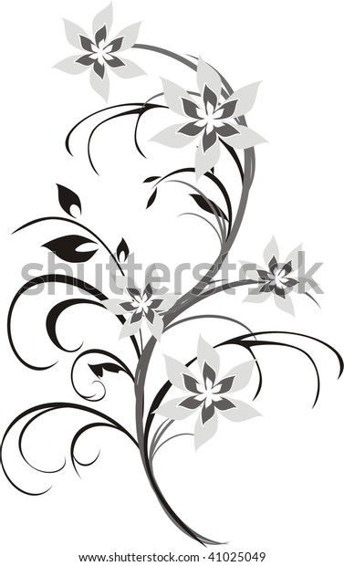 bouquet-fragment-floral-ornament-vector-
