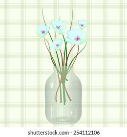 Bouquet in a three-liter glass jar.