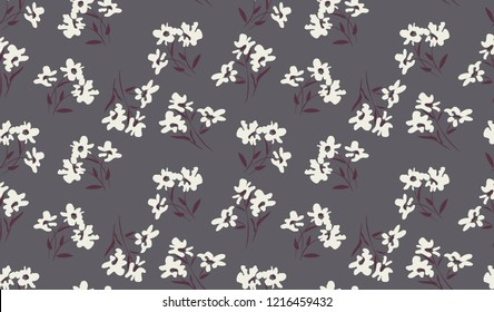 bouquets of flowers, like ordinary spots, seamless print on fabric
