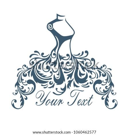Boutique dress gown logo design template stock vector royalty free dress gown logo design template vector design illustration maxwellsz