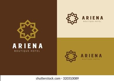 Boutique hotel logo,Hotel Logo,Vintage logo,Vector logo template