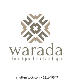 Boutique hotel Vector logo template