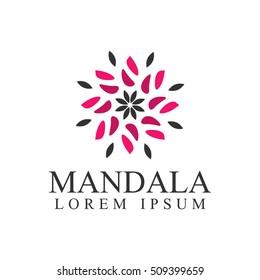 Boutique logo. Mandala logo. Geometric logo template. Business logo. Kaleidoscope logo. Floral logo. Flowers logo. Cosmetics logo. Cosmetics icon. Spa logo. Beauty salon logo. Geometric logo template.