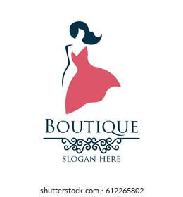 boutique logo with text space for your slogan / tagline, vector illustration
