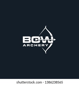 bow archery logo black white