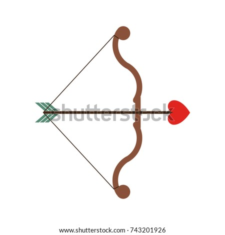 Bow Arrow Cupid Valentines Day Icon Stock Vector Royalty Free