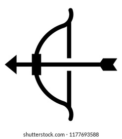 Bow and arrow designed to present archery