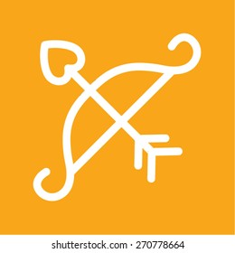 bow and arrow vector icon