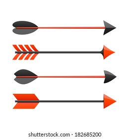Bow arrows. Vector.