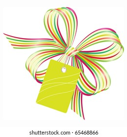 Bow with gift tag