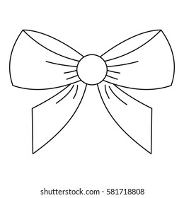 Bow icon. Outline illustration of bow vector icon for web