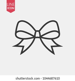 Bow line icon in trendy flat style isolated on white background. Ribbon symbol for your web site design, logo, app, UI. Vector illustration, EPS10