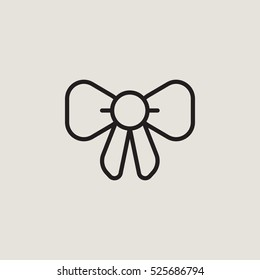 Bow Outline Vector Icon