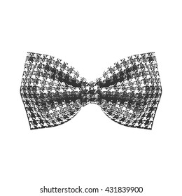 Bow tie. Black and white color. Vector illustration