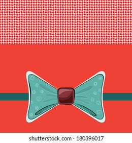 Bow tie card background, vector illustration