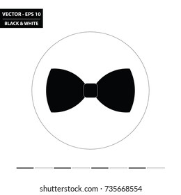 Bow tie flat icon. Vector Illustration.