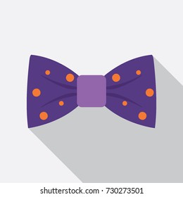 Bow tie flat icon. You can be used bow tie icon for several purposes like: websites, UI, UX, print templates, promotional materials, info-graphics, web and mobile phone apps.