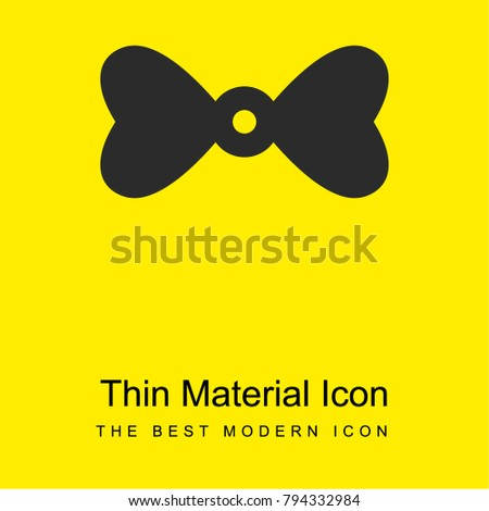 d5bbad2015b0 Bow tie with hearts bright yellow material minimal icon or logo design -  Vector